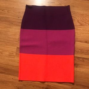 BCBG MaxAzria fitted colorblock skirt